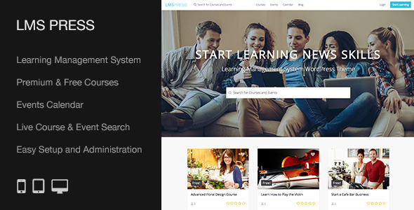 LMS Press | Learning Management System WP Theme - Education WordPress