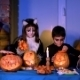 Children In Halloween Costumes Playing With - VideoHive Item for Sale