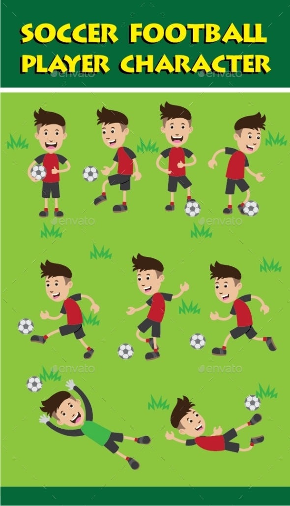 Soccer Football Player Character - People Characters