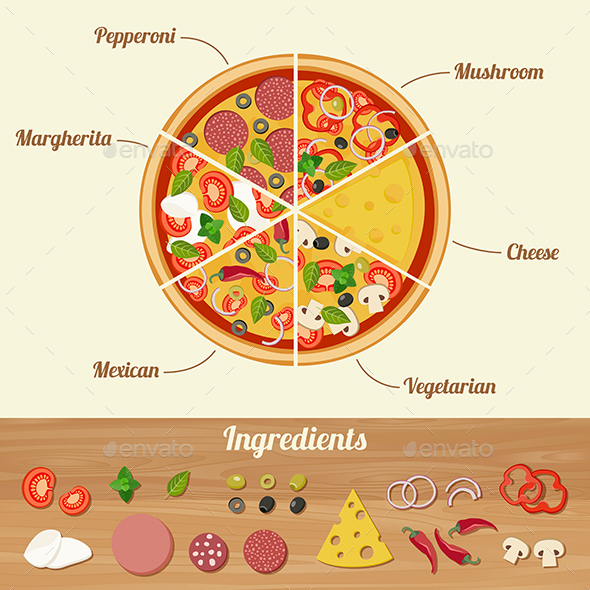 Pizza Ingredients - Food Objects