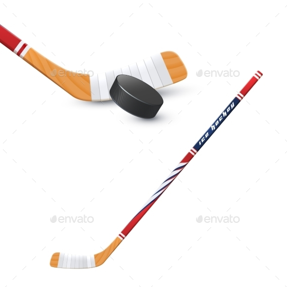 Hockey Stick And Puck - Sports/Activity Conceptual