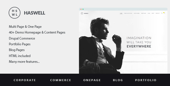 Haswell – Multipurpose One&MultiPage Drupal Theme