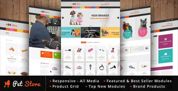 Pet Store – WordPress WooCommerce Theme for pets and vets