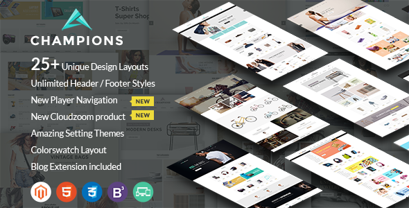 Champions – Creative Multi-Purpose Magento Themes