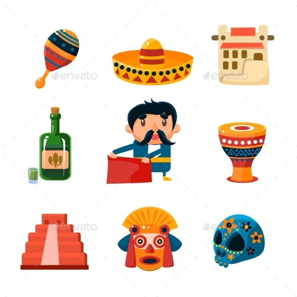 National Mexical Objects Vector Illustration - Objects Vectors