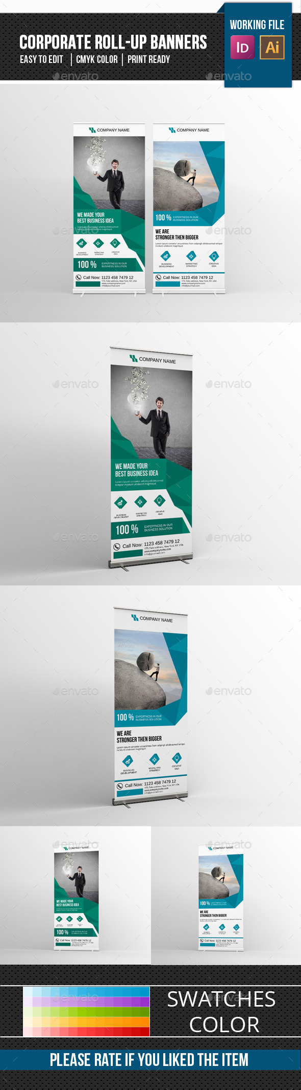 Corporate Roll-Up Banner-V06 - Signage Print Templates