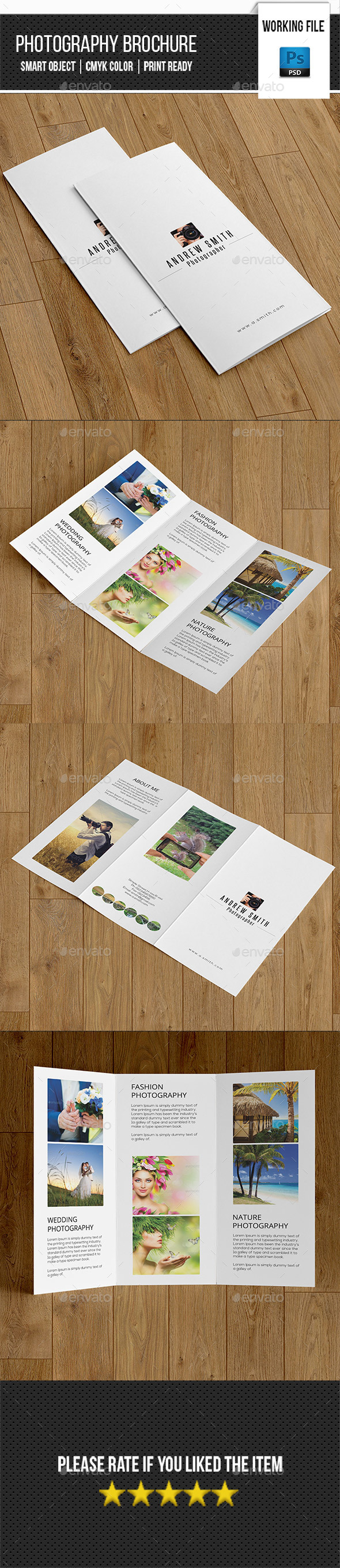 Minimal Photography Trifold-V255 - Corporate Brochures