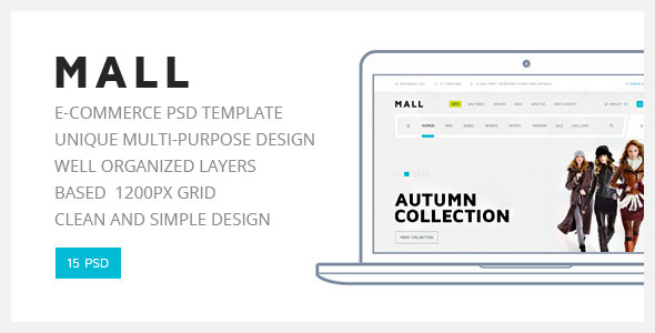 Mall — Multipurpose eCommerce PSD Template Free Download