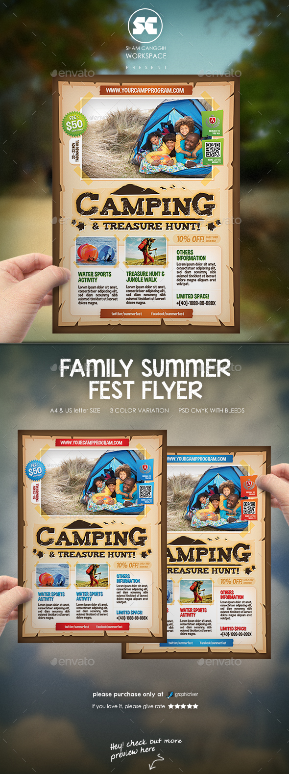 Camping Adventure Flyer / Magazine Ads - Miscellaneous Events