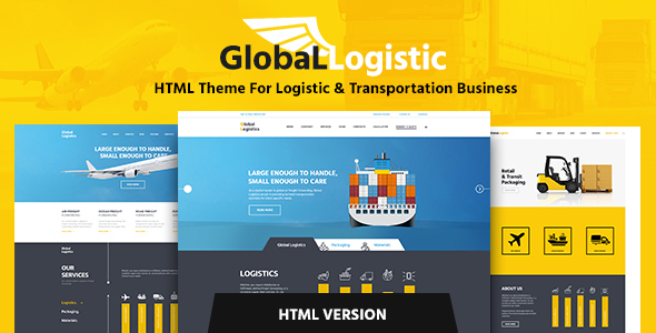 Global Logistics – Transportation HTML Template