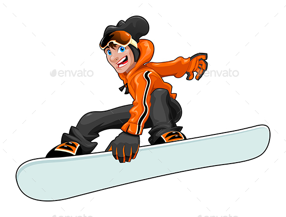 Funny Snowboarder - Sports/Activity Conceptual