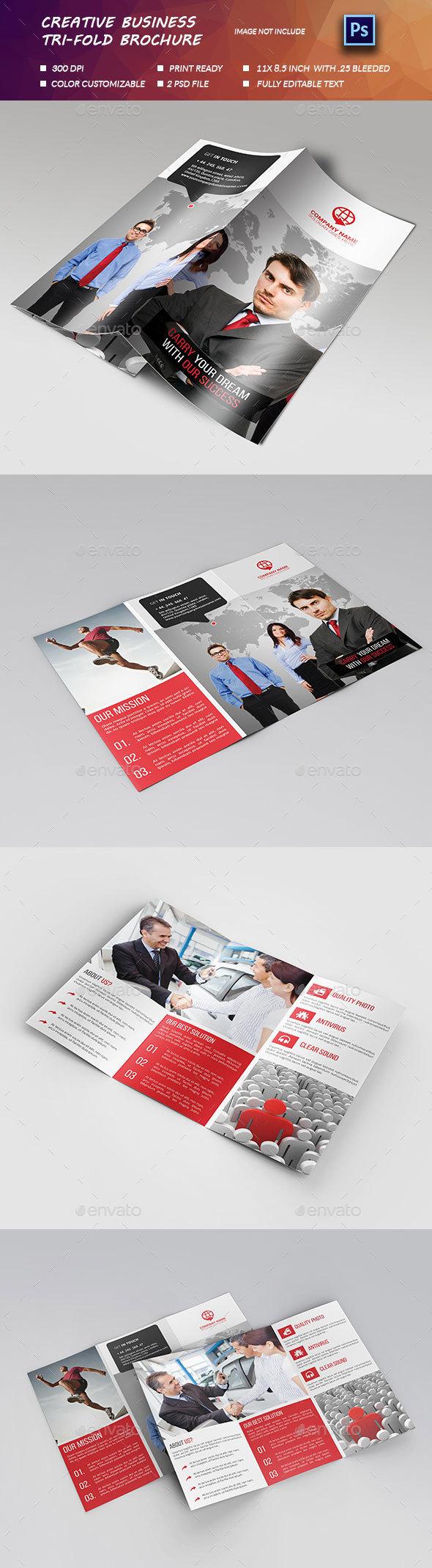 Creative Business Tri-fold Brochure. - Brochures Print Templates