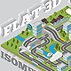 Flat 3D Isomatric Map Builder Elements Kit - GraphicRiver Item for Sale