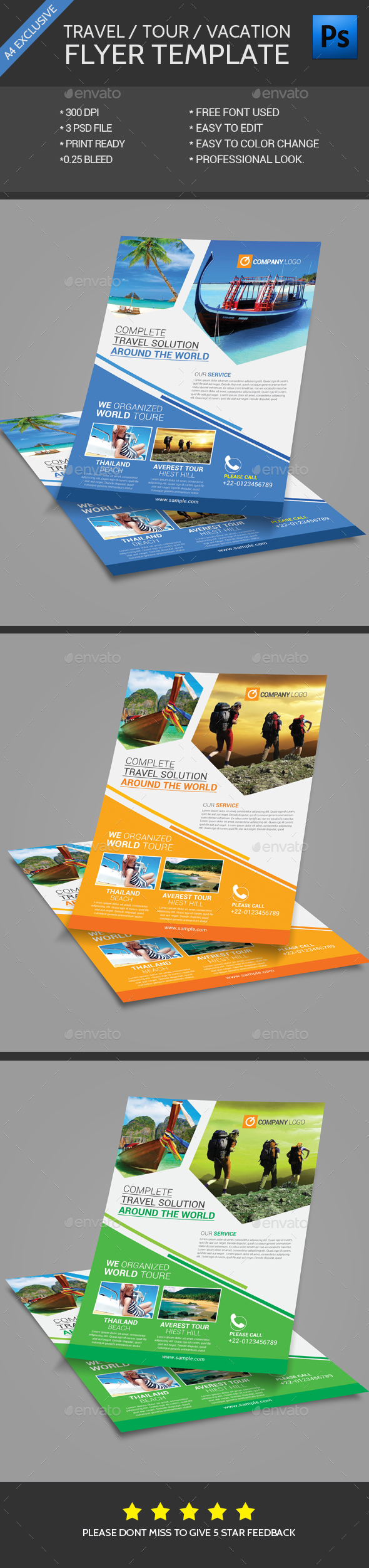 Travel Flyer Template - Flyers Print Templates