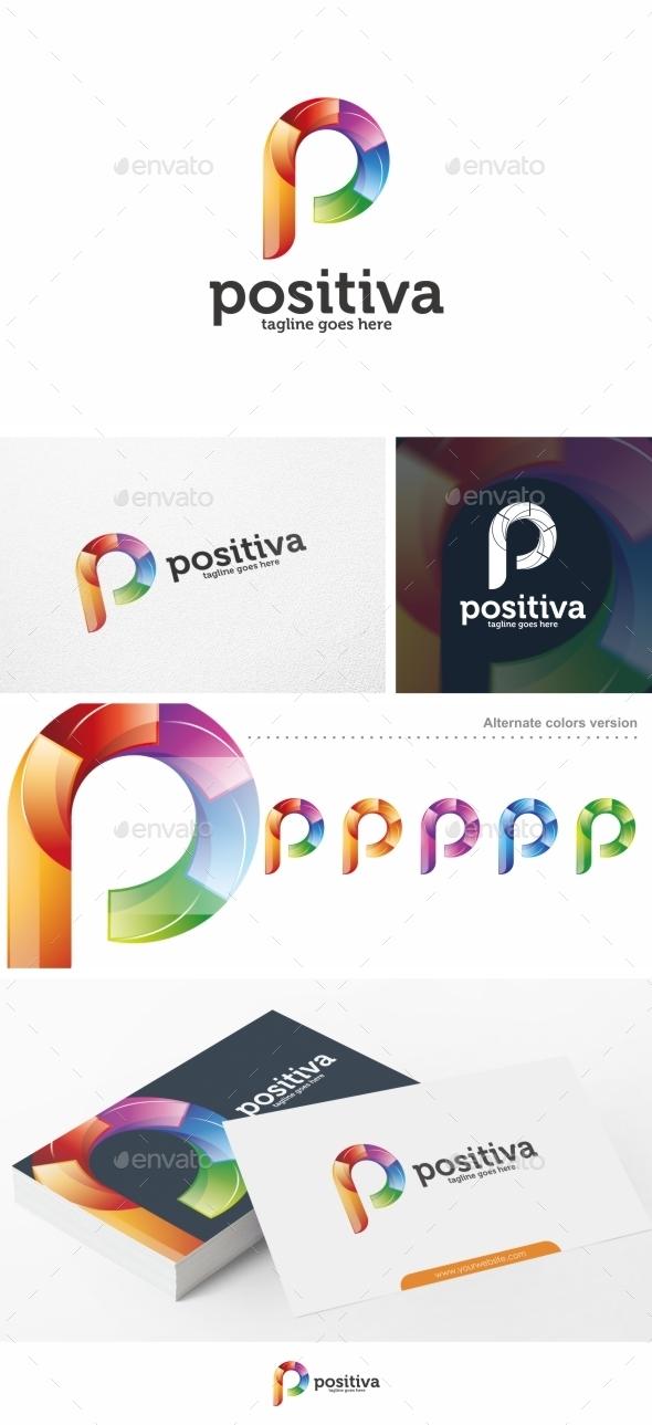 Positiva Letter P Logo Template