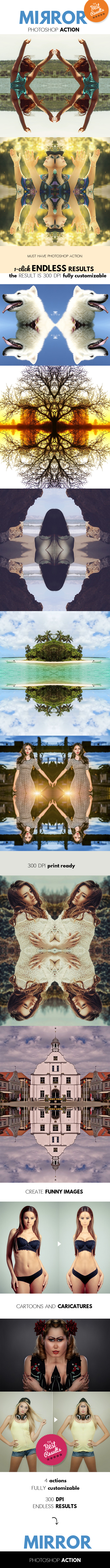 Mirror Reflection Photoshop Action - Photo Effects Actions