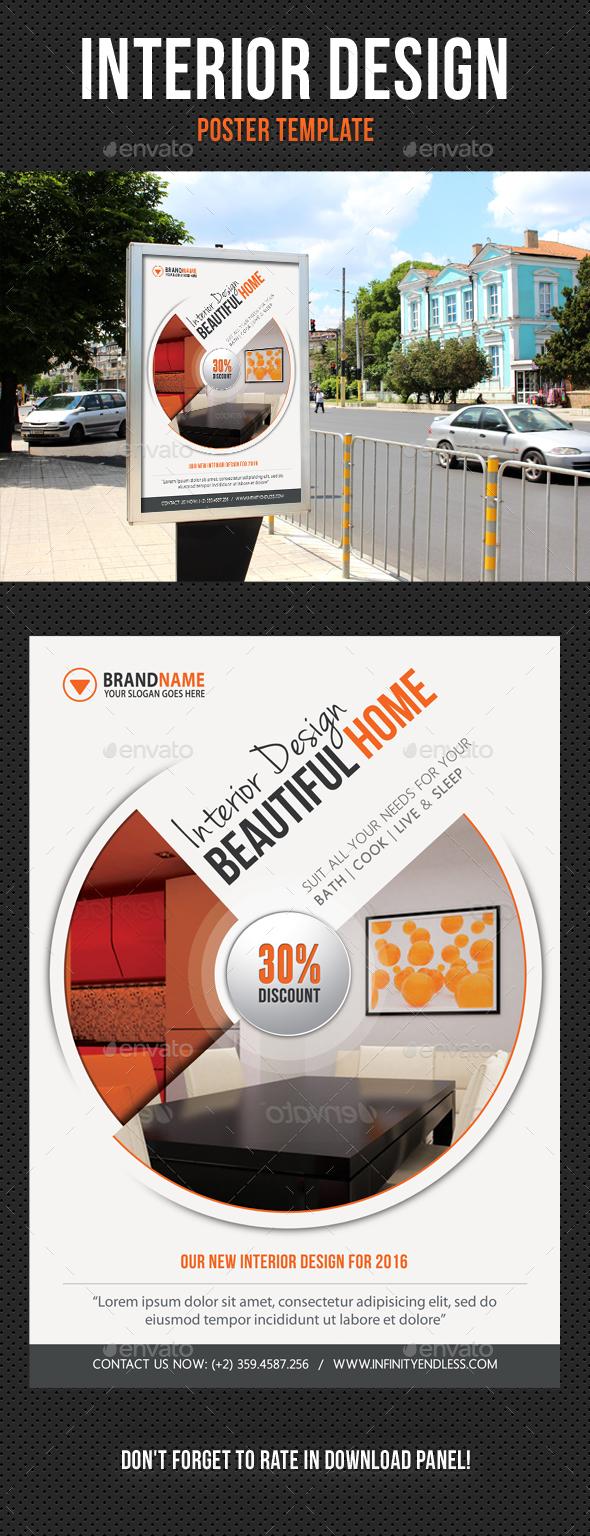 Interior Design Poster Template V03 - Signage Print Templates