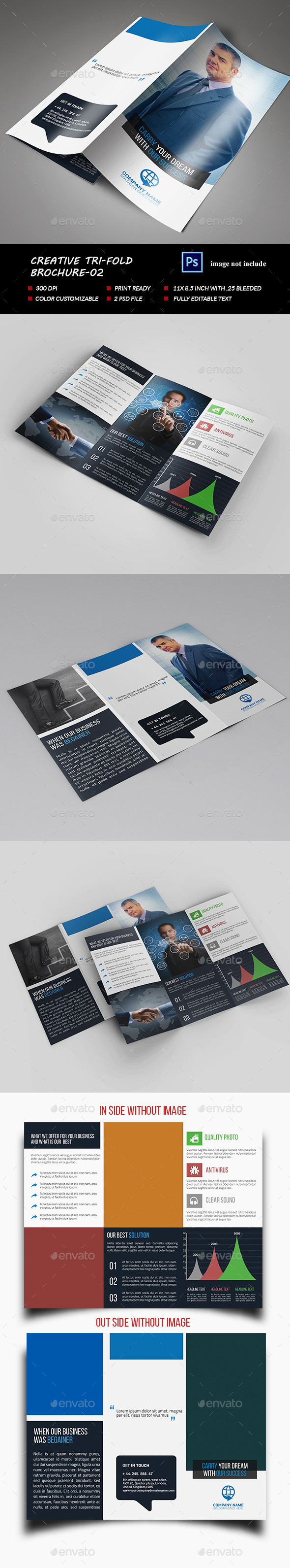 Creative Tri-fold Brochure-02 - Brochures Print Templates