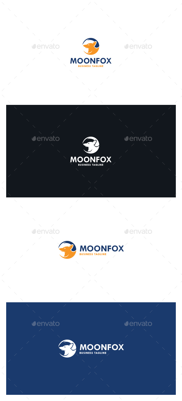 Moon Fox Logo - Symbols Logo Templates