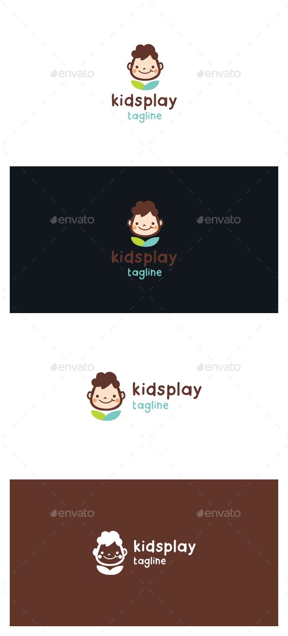 Kids Play Logo - Symbols Logo Templates