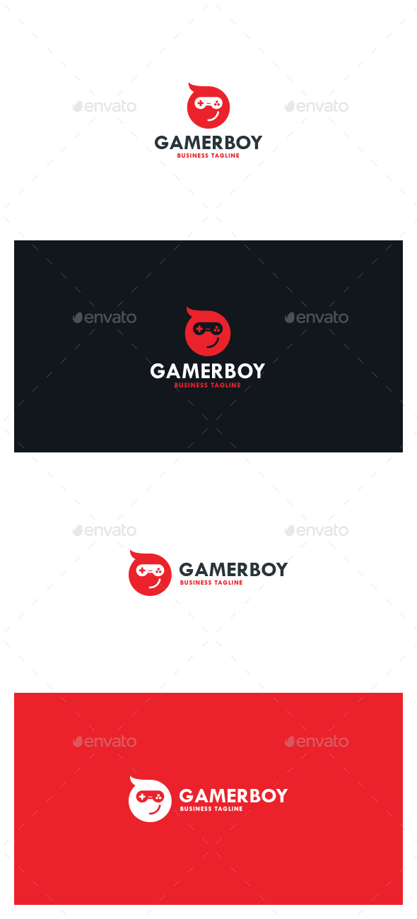 Gamer Boy Logo - Symbols Logo Templates