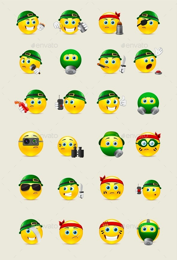 Military Smilies - Miscellaneous Characters