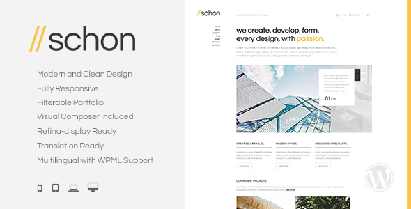 Schon – Modern and Business WordPress Theme