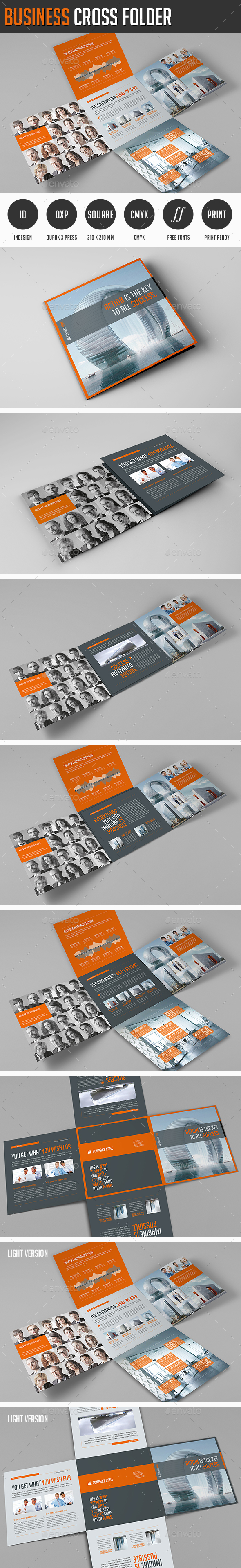 Business Cross Folder - Corporate Flyers