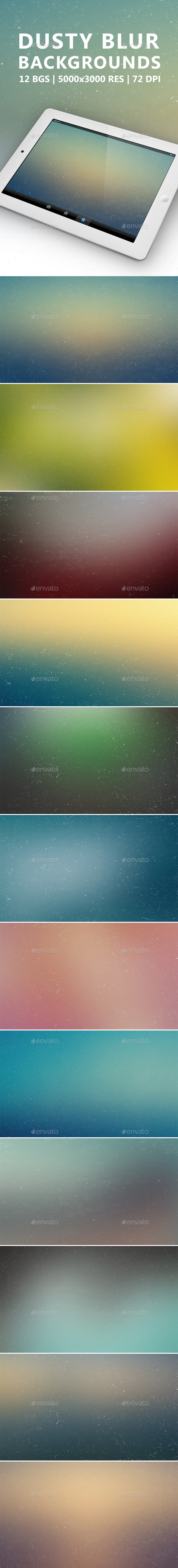 Dusty Blur Backgrounds - Abstract Backgrounds