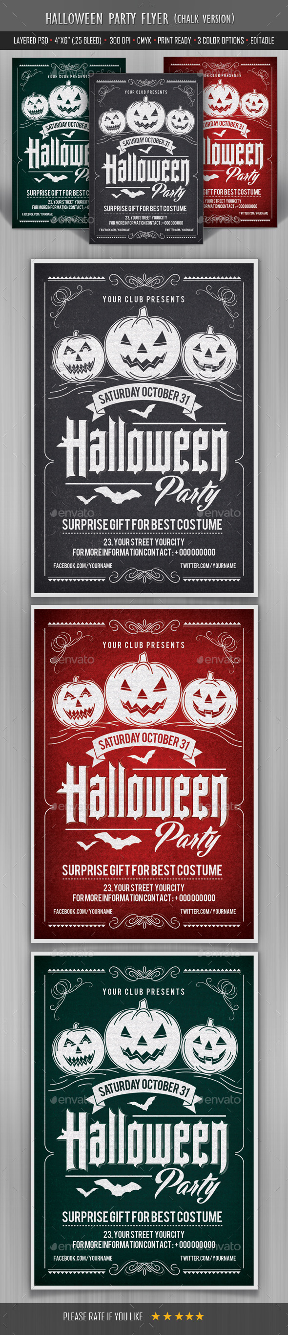 Halloween Party Flyer Template - Print Templates