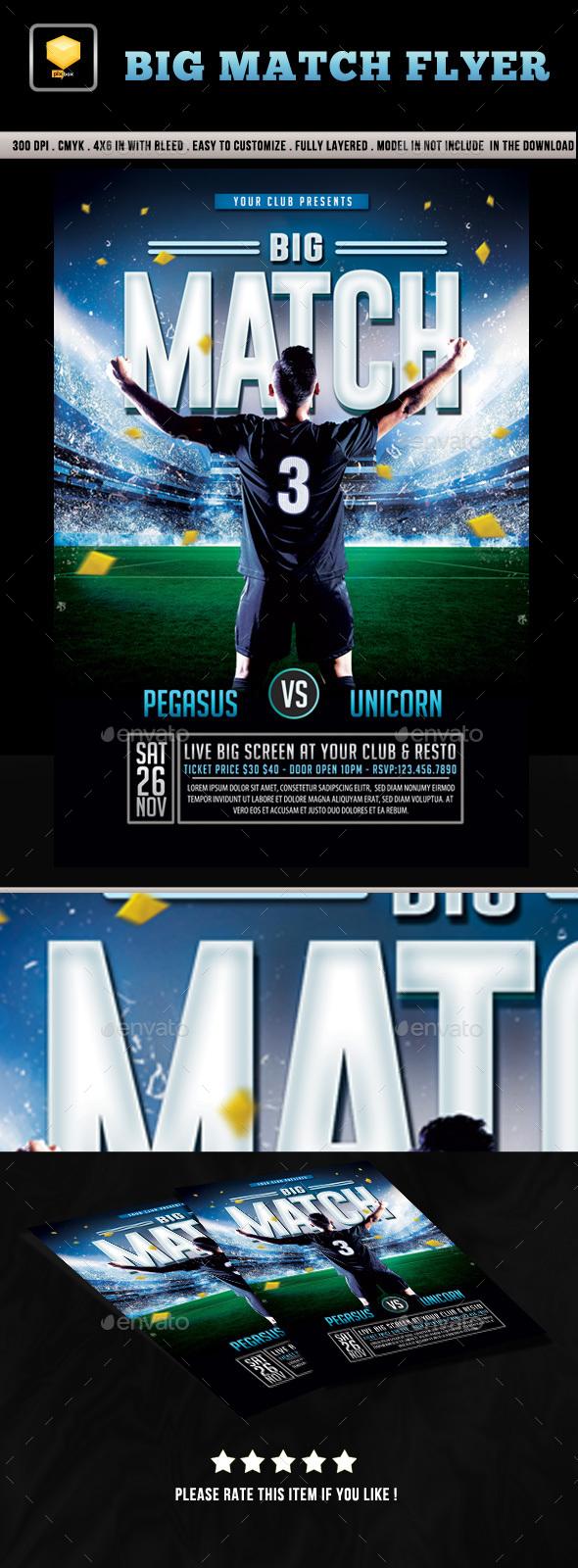 Big Match Flyer - Sports Events