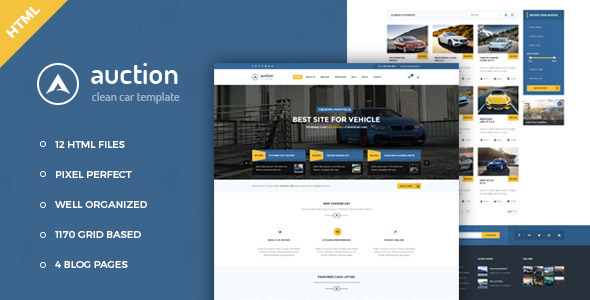 Auction - Car Dealer & Mechanic HTML Template - Corporate Site Templates