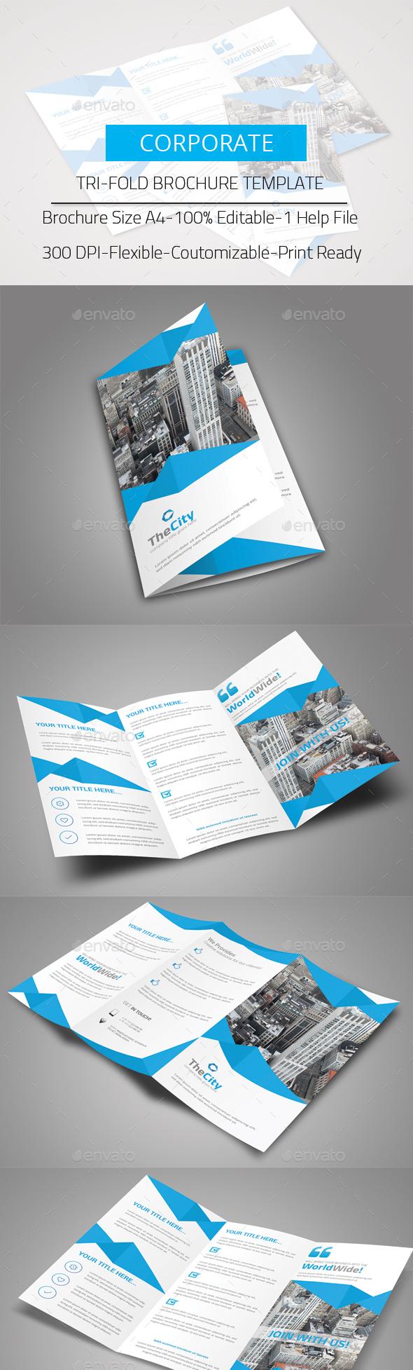 Tri-Fold Brochure - Corporate Business Cards