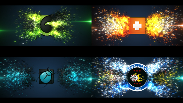 Glowing Particle Logo Reveal 11