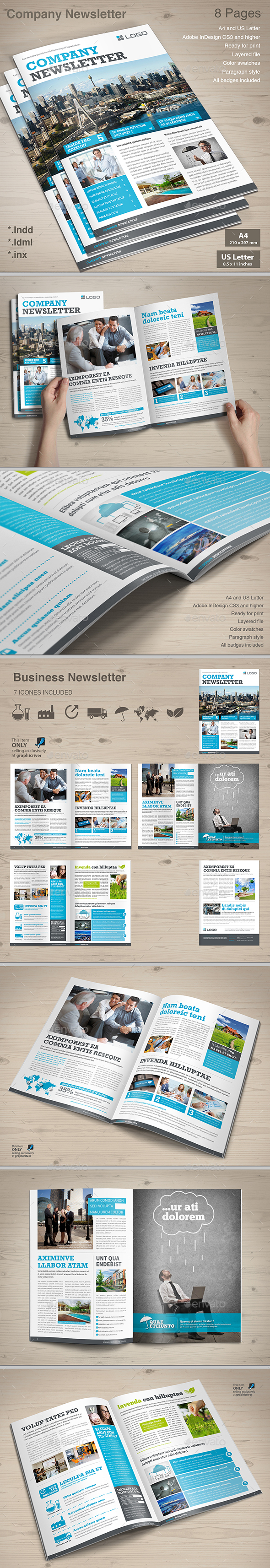 Company Newsletter - Newsletters Print Templates
