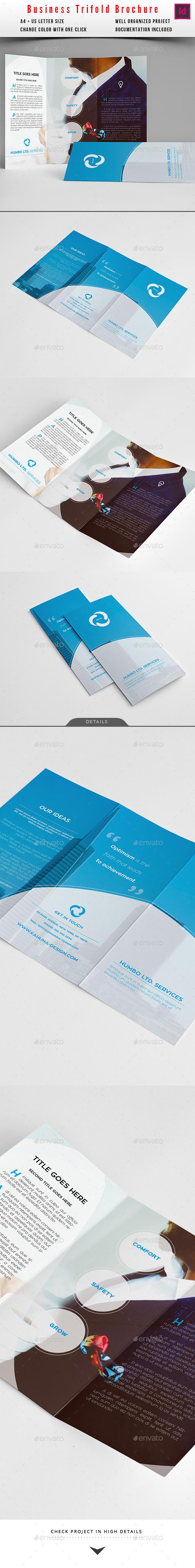 Trifold Modern Universal Business Brochure - Brochures Print Templates