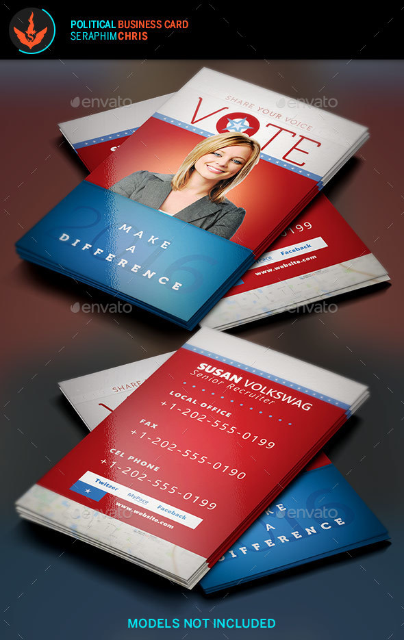 Vote: Political Business Card Template - Corporate Business Cards