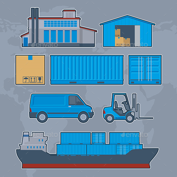 Shipping Logistics Cargo Containers