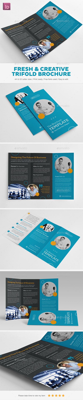 Fresh & Creative Trifold Brochure - Brochures Print Templates