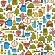 Seamless Camping Background - GraphicRiver Item for Sale