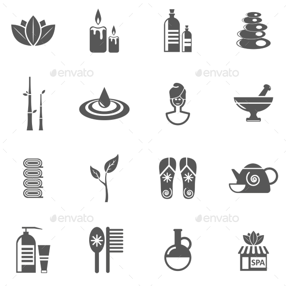 Spa And Relax Icons Set  - Business Icons