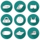 Set Of Yoga Equipment Icons - GraphicRiver Item for Sale
