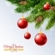 Decorated Christmas Tree Branches Card Print  - GraphicRiver Item for Sale
