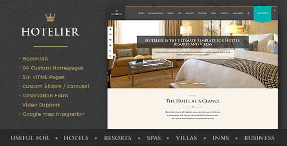 Hotelier - Hotel & Travel Booking HTML Template