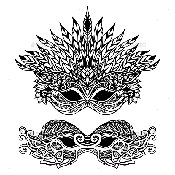 Decorative Carnival Mask - Objects Vectors