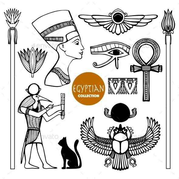 Egypt Symbols Set