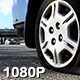 Car with Exploded Tire on Side of Freeway - VideoHive Item for Sale