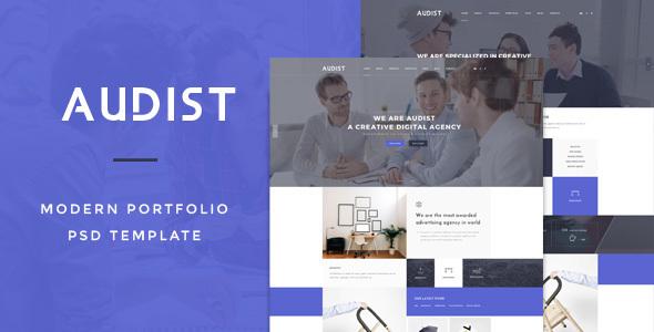Audist – Modern Portfolio PSD Template