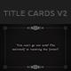 Old Silent Films Title Cards Backgrounds v2 - GraphicRiver Item for Sale