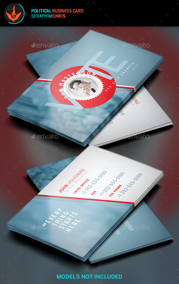 Political Business Card Template 7 - Corporate Business Cards